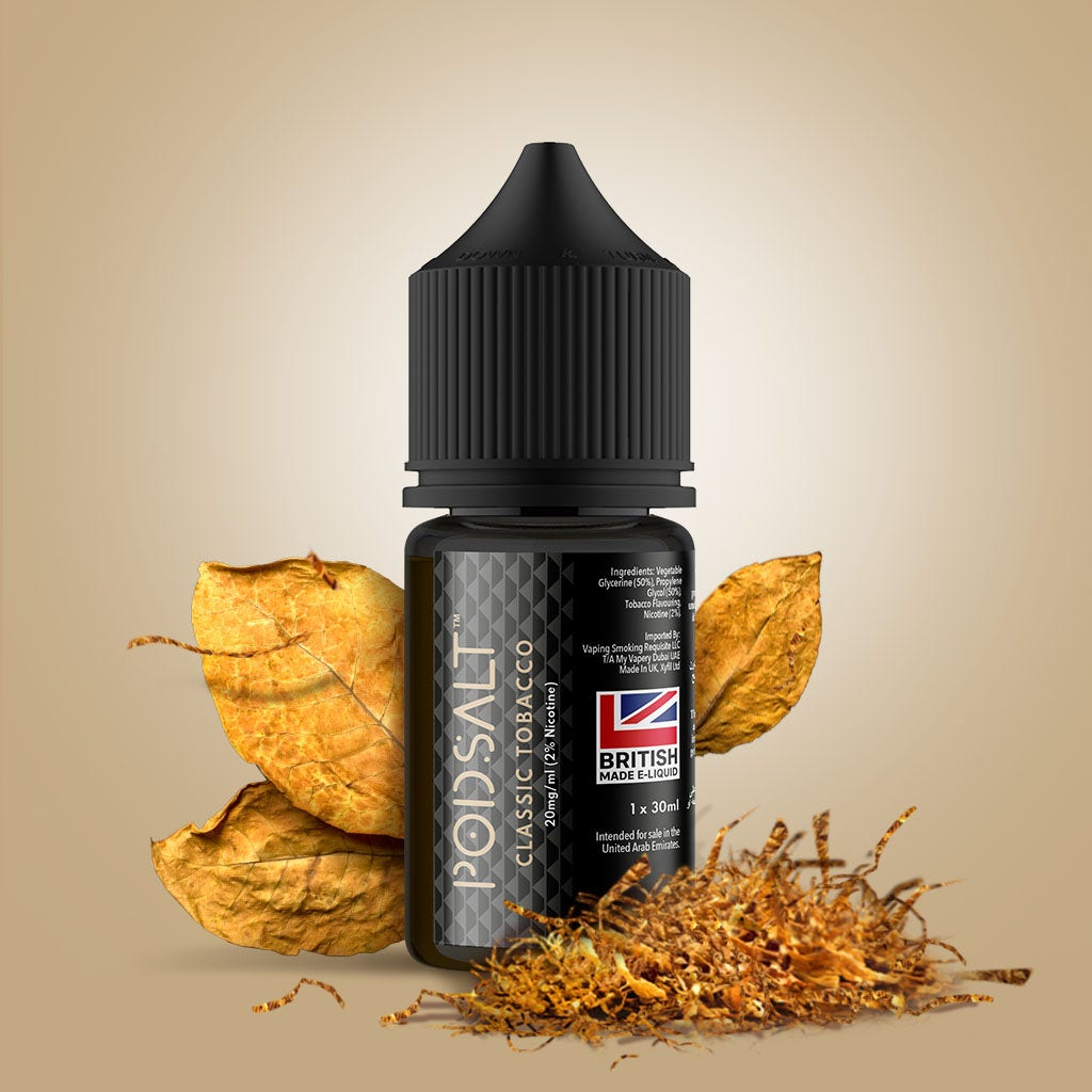 Pod Salt Core E-Liquid bottle Classic Tobacco flavour