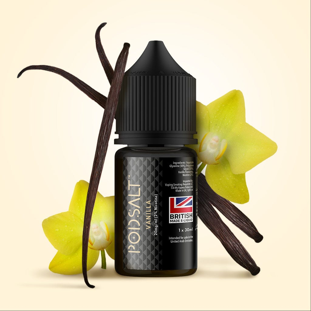 Pod Salt Core E-Liquid bottle Vanilla flavour