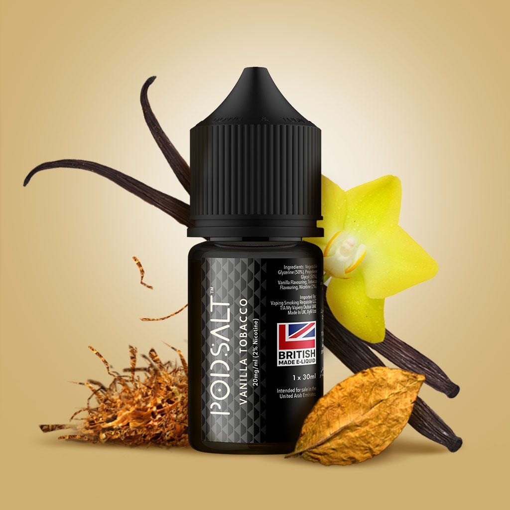 Pod Salt Core E-Liquid bottle Vanilla Tobacco flavour
